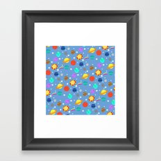 planets and stars Framed Art Print