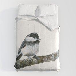 Black-capped Chickadee by Teresa Thompson Comforters