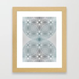 Colliding Circles in Teal and Grey Framed Art Print