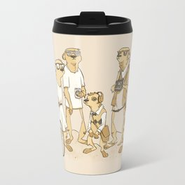 Hipster Meerkats Travel Mug