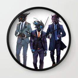 Snazzy looking bots Wall Clock