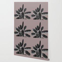 Black Mauve Cactus #1 #plant #decor #art #society6 Wallpaper