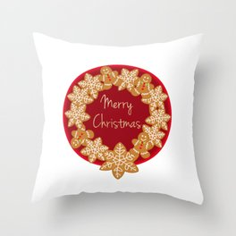 Christmas Cookies Throw Pillow