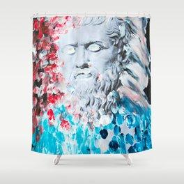 Plato's haircut Shower Curtain