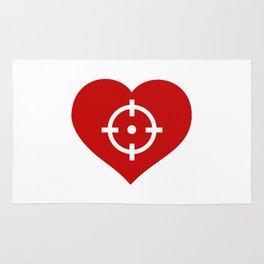 Heart as target Rug