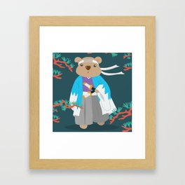 Kuma Bear - Shinsengumi Framed Art Print
