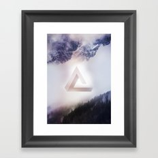 Infinite Triangle Framed Art Print