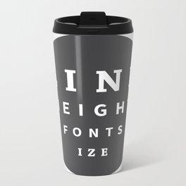 Line Height & Font Size (Solo) Metal Travel Mug
