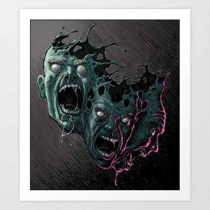 Cathartic Chaos (color) Art Print
