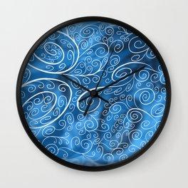 Icy Swirls Wall Clock