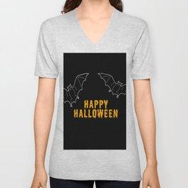 Happy Halloween Bat Unisex V-Neck