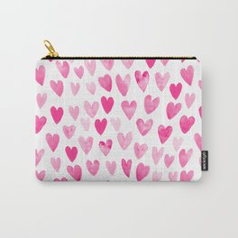Hearts Pattern watercolor pink heart perfect essential valentines day gift idea for her Carry-All Pouch