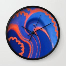 Abstract Blue Bird Wall Clock