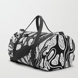 Black and white Roots INK Duffle Bag