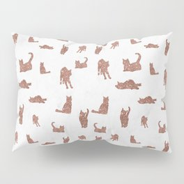 I Love Glitter I Love Cat Pattern Pillow Sham