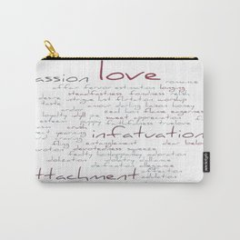 Love Word Cloud Carry-All Pouch
