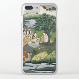 INDIAN MINIATURE SHOWING AN EPISODE OF KHAMSA Nezami Clear iPhone Case