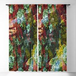texture paint peeling weathered Blackout Curtain