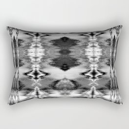 B&W Watercolor Ikat Rectangular Pillow