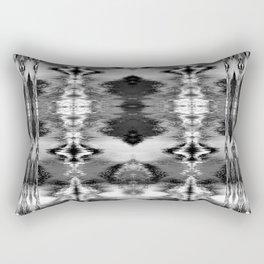 B&W Watercolor Ikat Rectangular Pillow
