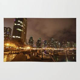 Coal Harbour Vancouver New Years Eve 2017 Rug