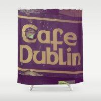 irish Shower Curtains featuring Irish Pub by Eirin Wie Haveland