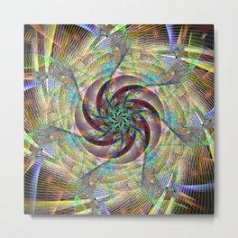 Spiral Twist Metal Print