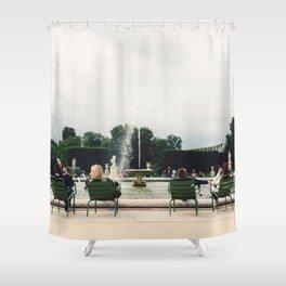Fountain at Jardin de Tuileries, Paris, France Shower Curtain