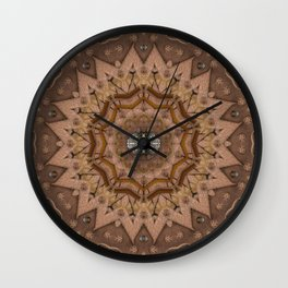 peace on earth in leather Wall Clock