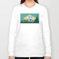 rio de janeiro Long Sleeve T-shirts featuring Rio de Janeiro skyline by siloto