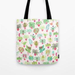 Tropical Houseplants Tote Bag