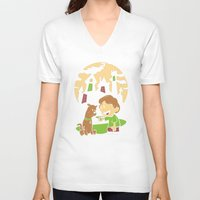 hobbes V-neck T-shirts featuring Shaggy n Scoob by Moysche Designs
