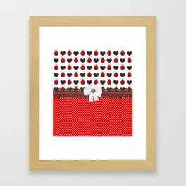 Ladybug and Hearts Framed Art Print