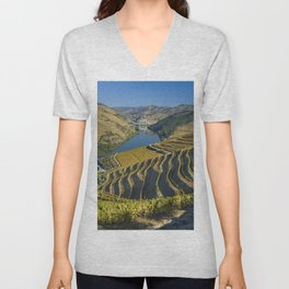 Vineyards in the Douro Valley, Portugal Unisex V-Neck