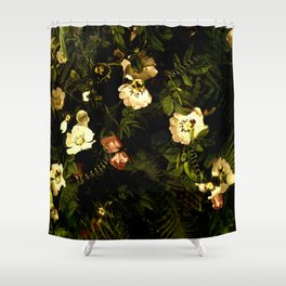 Floral Night III Shower Curtain