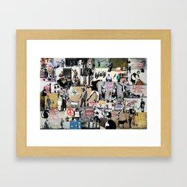 Banksy Collage Framed Art Print