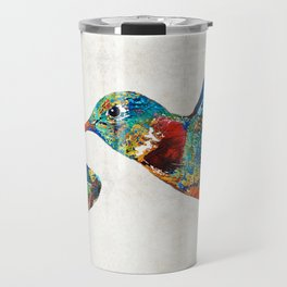 Colorful Hummingbird Art by Sharon Cummings Travel Mug