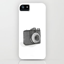 Vintage Analog Camera - Agfa Clack (B&W Edition) iPhone Case