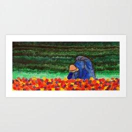 Mujer arando Art Print