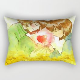 Frisk n Chara  Undertale Rectangular Pillow