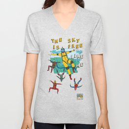Skydive in the sky Unisex V-Neck