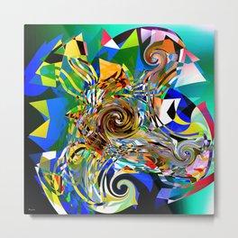 Abstract Harlequin Metal Print