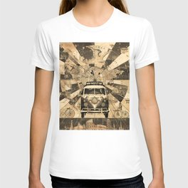 vintage voyager world map design 7 T-shirt