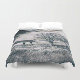 Highland Cottage, monochrome. Duvet Cover