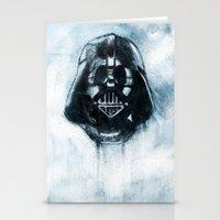 dark side Stationery Cards featuring Dark Side by ErDavid