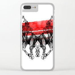 Horses Clear iPhone Case
