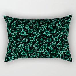 Crop Circles (Green Lines) Rectangular Pillow