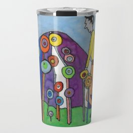 Walking through the Dreaming Fields by Machale O'Neill Travel Mug