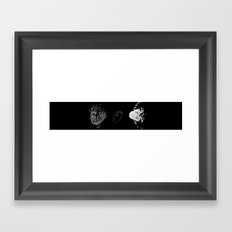 FLUX THREE triptych F02ex02BW 1-2720 Framed Art Print