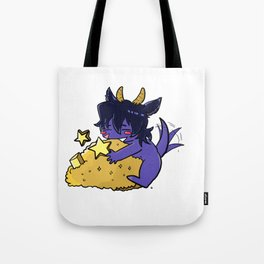 Small cute purple Dragon Keith Protect his golds Tote Bag